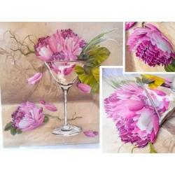 """Image 3 D  Fleur """"Martini Flower""""  30 x 30 cm (vendue à l'unité) pour tableau selon technique du 3D"""