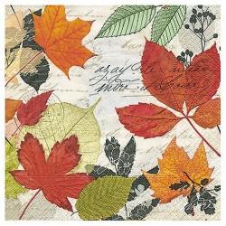 """Serviette  en papier motifs """"NOEL, Sapins & Rennes""""   (vendue à l'unité)  33 x 33 cm"""