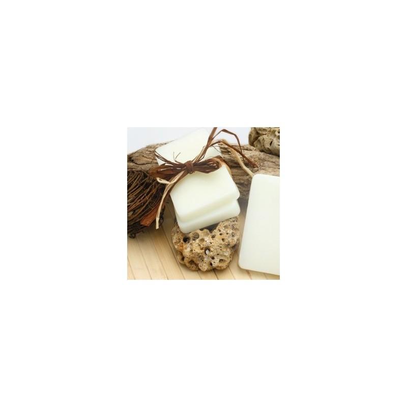 Pain de savon à mouler pour fabrication artisanale pain de  100 gr, Ivoire