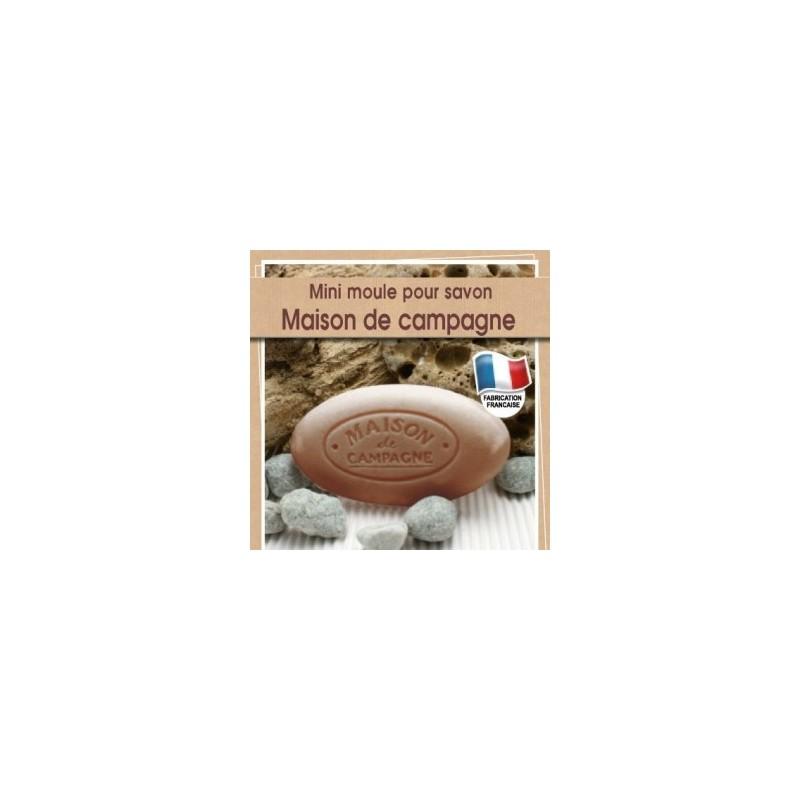 Moule mini pour fabrication savon avec écriture Maison de Campagne