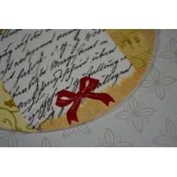 Planche stickers Peel Off  Ecritures Dorées Joyeux Anniversaire fond Doré Mat (10 cm x 23 cm)