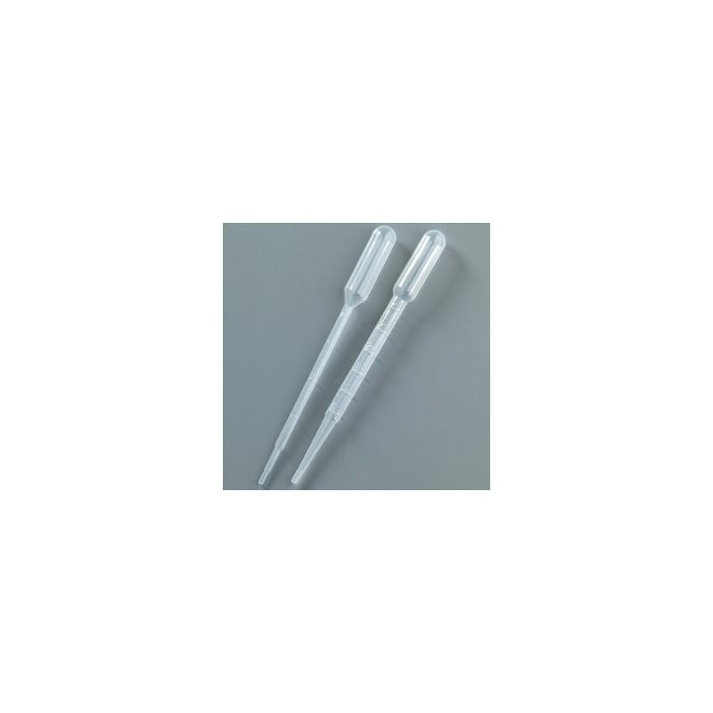 Pipette graduée plastique pour dosage goutte à goutte (lot de 2 :  1 ml + 3 ml)