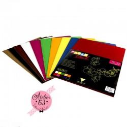 Carton ondulé 22 x 32 cm - Assortiment couleur x 10 pièces