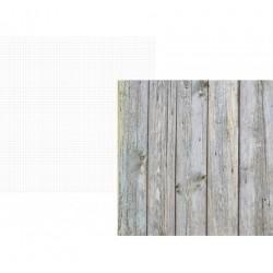 Papier Scrap Double  30x30 cm Single stories collection Fond planches bois 1 feuille avec imprimé RectoVerso
