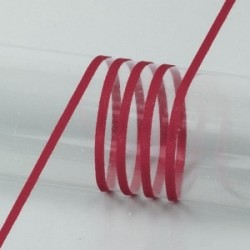 Ruban  Satin largeur : 3 mm double face coloris uni Prune (vendu au mètre)