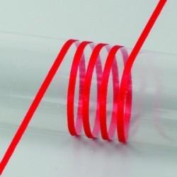 Ruban  Satin largeur : 3 mm double face coloris uni Rouge (vendu au mètre)