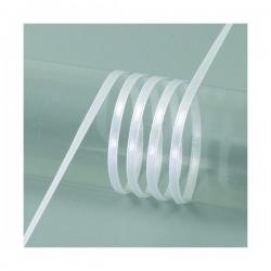 Ruban  Satin largeur : 3 mm double face coloris uni Blanc (vendu au mètre)