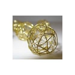 Pendentif  Perle mini pelote Métal Doré Création de Bijoux ( vendu à l'unité)