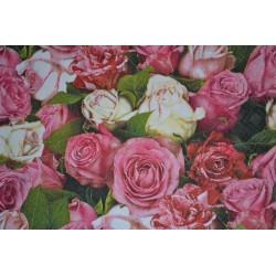 """Serviette en papier motifs """"Tapis de Roses""""   (vendue à l'unité)  30 x 30 cm"""