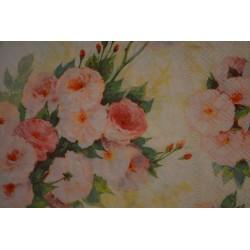 """Serviette en papier motifs """"Bouquet d'Oeillets""""   (vendue à l'unité)  33 x 33cm"""