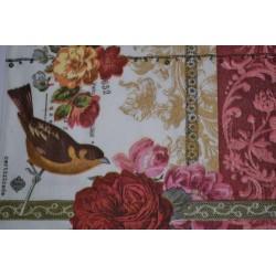 """Serviette en papier motifs """"Rose Paysage de Jardin""""   (vendue à l'unité)  33 x 33cm"""