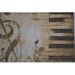 """Serviette en papier motifs """"Piano""""   (vendue à l'unité)  33 x 33cm"""