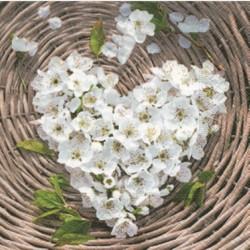 """Serviette en papier motifs """"Amour Coeur Garden""""   (vendue à l'unité)  33 x 33cm"""
