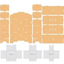 Rangement Commode Kit en MDF à monter 7 Tiroirs A Décorer (25,4 x 10,4 x 36 cm)