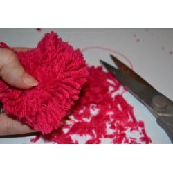 Laine à Tricoter/Crocheter & plus Coloris : Bordeaux 100% laine BIO de mouton (Echeveau : 100 gr, 400 m de fils)