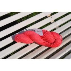 Laine à Tricoter/Crocheter & plus, Coloris : Rose Saumon 100% laine BIO de mouton (Echeveau : 100 gr, 400 m de fils)
