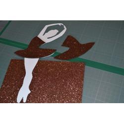 Plaque de Mousse pailletée marron foncé Petit Format A4 (20cm x30 cm)