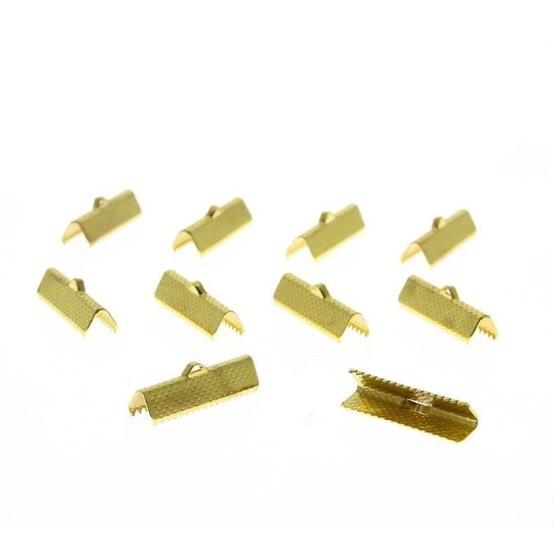 Fermoir Griffe à pincer (clip)  doré (Sachet 10 pièces) 25 mm