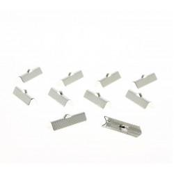 Fermoir Griffe à pincer (clip)  Argenté (Sachet 10 pièces) 25mm