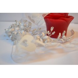Ruban mini pompon Orange vendu par 50 cm (Utilisation : couture, Bracelet,décoration...)