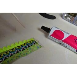Ruban Galon tissé Chevrons couleurs Mixtes vendu par 50 cm (Utilisation : couture, Bracelet,décoration...)