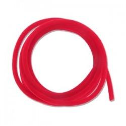Ruban Cordon Velours 3 mm Rouge (1 m) (Utilisation : couture, Bracelet, décoration...)