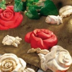 Moule souple Thermoformé Les 7 Roses pour plâtre, pâte séchant à l'air, polymère ..etc