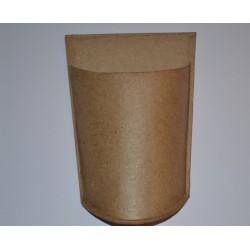 Pot (demi pot) à ustensiles en papier mâché, avec patte d'attache pour suspendre (10,3 x 15.5 cm)