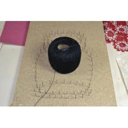 Fil coton perlé   Coloris : Noir 100% coton (10 g, 82 m)