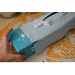 """Plaque de Mousse thermoformable Imprimé """"Petites Fleurs Bleues""""  (Grande : 60 cm x 40 cm)"""