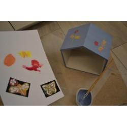 "Peinture Effet Craie Chalky ""Vintage Look""  Coloris Bleu clair 250ml"