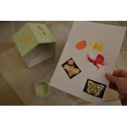 """Peinture Effet Craie Chalky """"Vintage Look""""  Coloris Vert 250ml"""