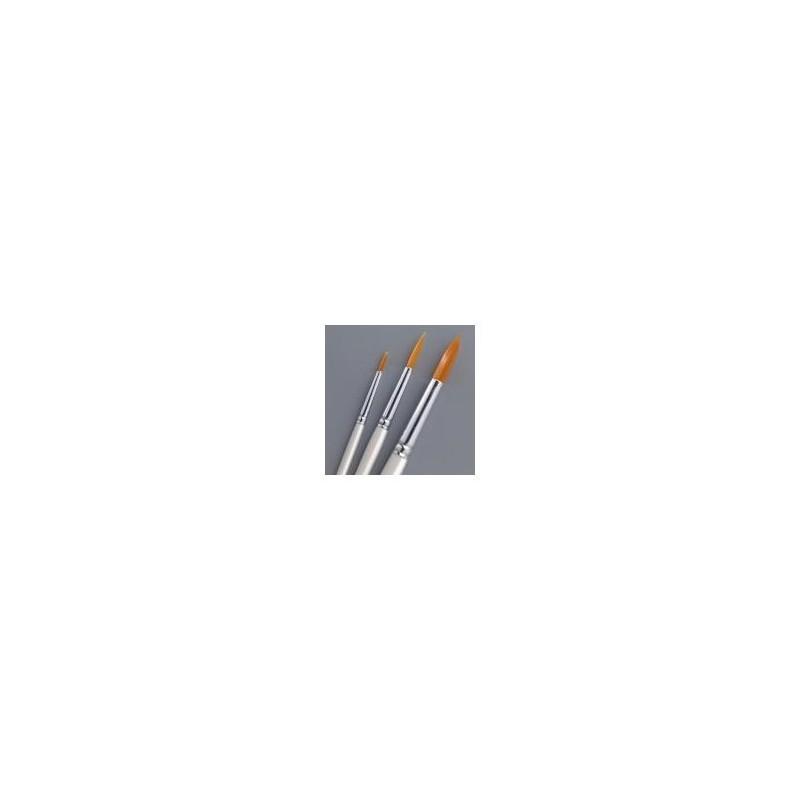 Pinceaux Ronds Souples synthétiques, Kit de 3 pinceaux de tailles différentes 3/2/4
