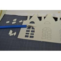 Cutter de découpe et ses 6 lames de rechange, poignée en relief