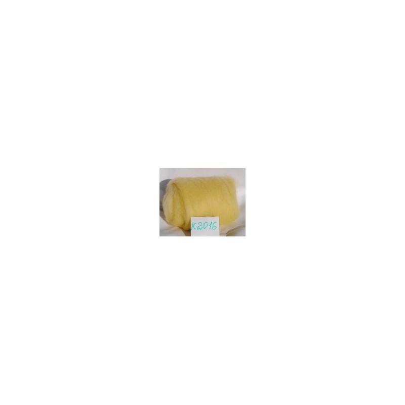 Laine Cardée à Feutrer 50 gr coloris Jaune Poussin LNK2016