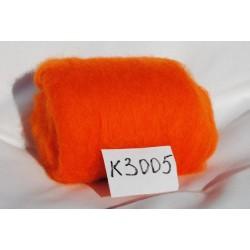 Laine Cardée à Feutrer 50 gr coloris Orange Pressée LNK3005