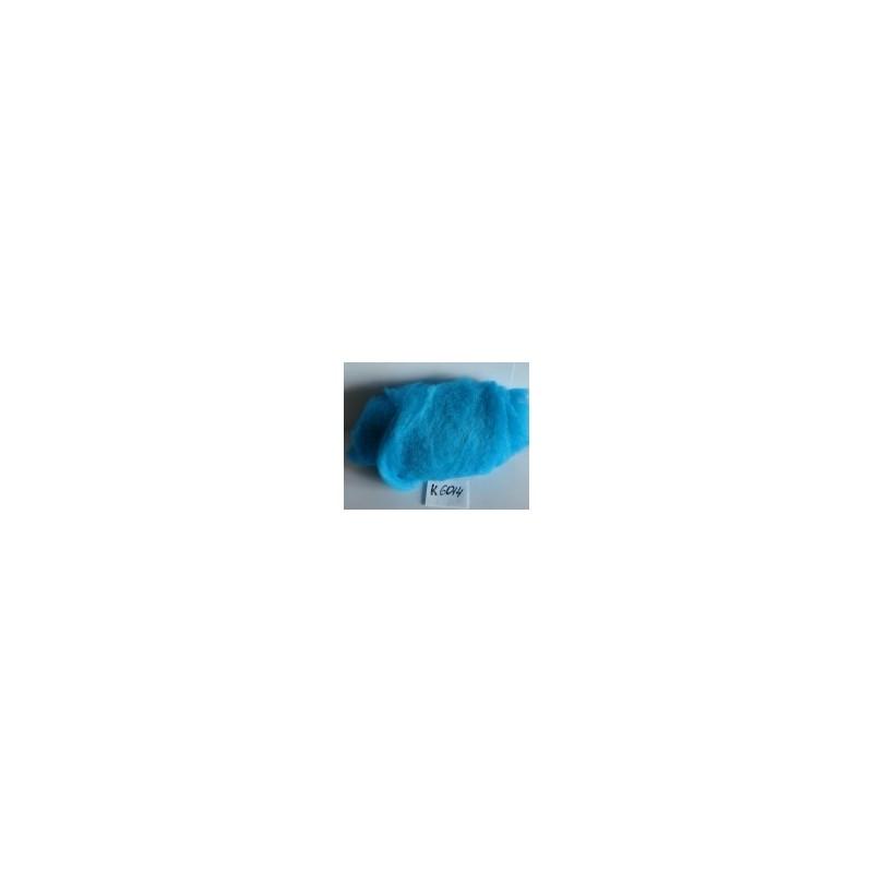 Laine Cardée à Feutrer 50 gr coloris Bleu Lagon LNK6014