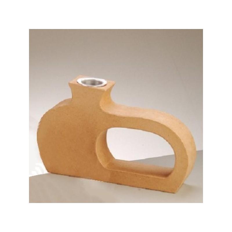 Vase  en papier mâché (21 x 13cm) avec soliflore amovible en aluminium  (4 cm)