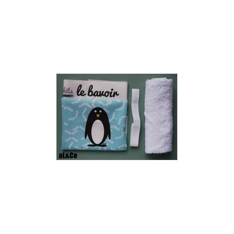 Bavoir à confectionner soi-même kit Le Pingouin, Collection Al&Co Anne Lacambre