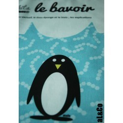Bavoir à confectionner soi-même kit La Chouette, Collection Al&Co Anne Lacambre