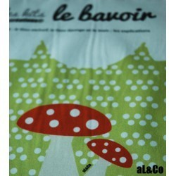 Bavoir à confectionner soi-même kit Le Papillon, Collection Al&Co Anne Lacambre