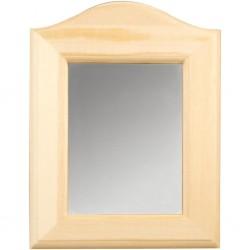 Miroir Book, bois clair brut (19x27x1,5 cm), à décorer