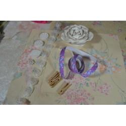 """Ruban  en Satin Blanc  """"COEUR""""   vendu au mètre (largeur : 8 mm), pour mariage, Baptème ...toutes les fêtes"""