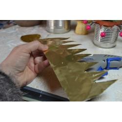 Feuille Aluminium Couleur Cuivrée  30 x 20 cm ( épaisseur : 0.15mm) Vendue à l'unité