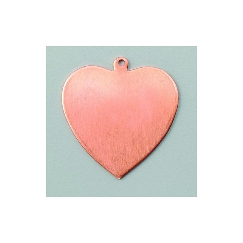 """Pendentif  """"Coeur""""  en Cuivre pour  Création de Bijoux Efcolor"""