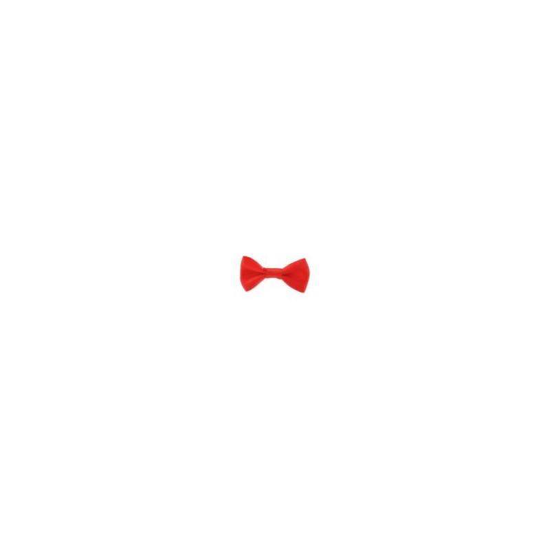 Noeud en SATIN coloris Rouge  (37 mm) Vendu à l'unité