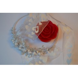 Ruban synthétique pailleté multicolore 10 mm  (2 m) (Utilisation : couture, Bracelet, décoration...)