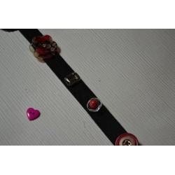 Fermoir boucle coloris argent vieilli pour ceinture lacet 10 mm, Longueur 23 mm x 14 mm