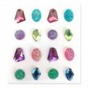 Strass Pierres Multicolor Crystal assortiment adhésives 20 mm sachet de 16 pièces