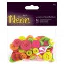 Boutons Neon sachet mélange rose/jaune/pistache/orange